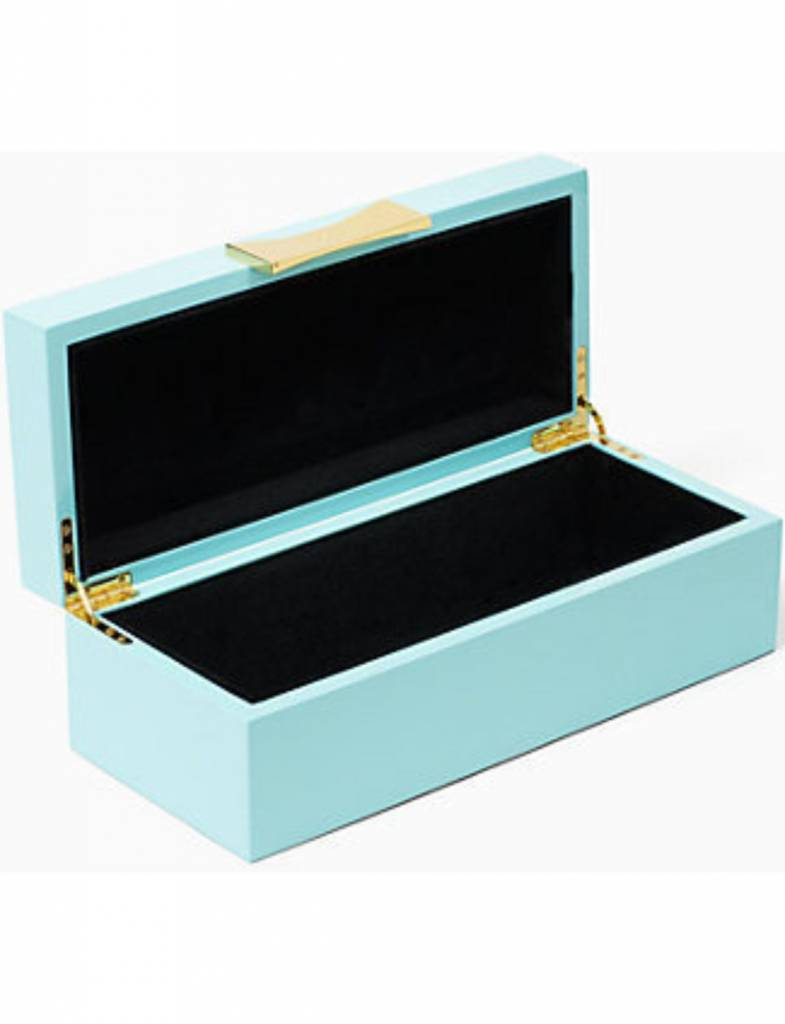 Kate Spade Garden Drive Turquoise Jewelry Box Heads Up Boutique