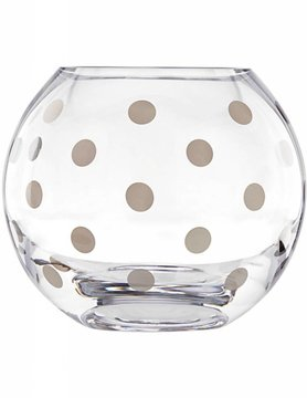 Kate Spade Pearl Place Platinum Rose Bowl