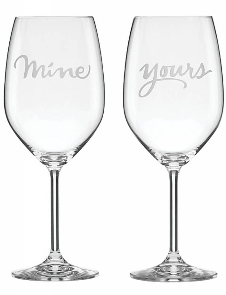 Kate Spade Two of a Kind Wine Glass Set