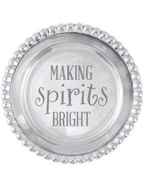 1162MS Making Spirits Bright Wine Plate