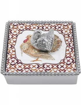 1282-C Turkey Beaded Napkin Box