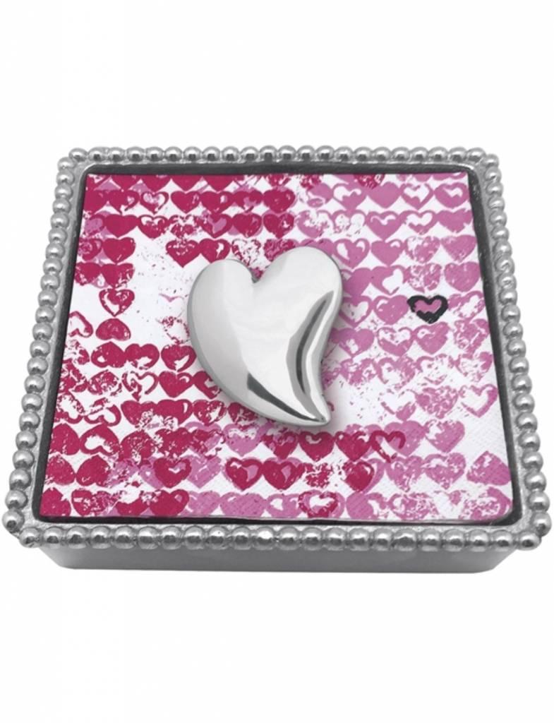 1321-C Heart Beaded Napkin Box