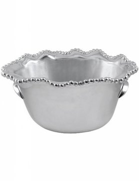 1143 Pearled Wavy Medium Ice Bucket