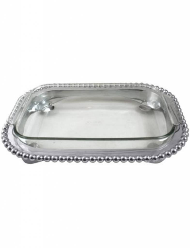 2316 Pearled Round Handled Tray