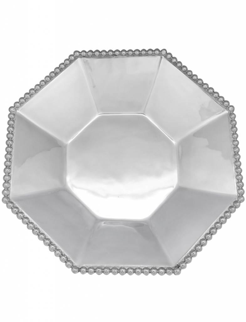 2347 Pearled Octagonal Serving Bowl