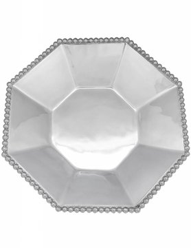 2347 Pearled Octagonal Serving Bowl