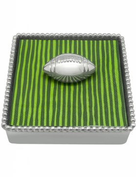 2631-C Football Beaded Napkin Box