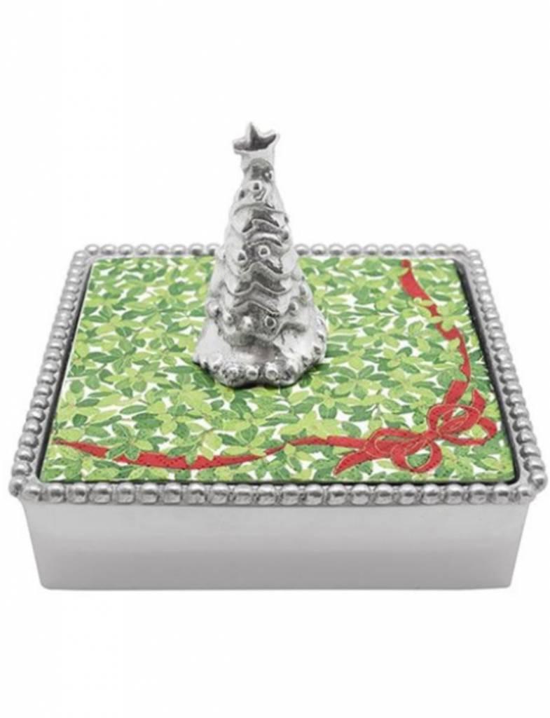 2682-C Christmas Tree Napkin Box