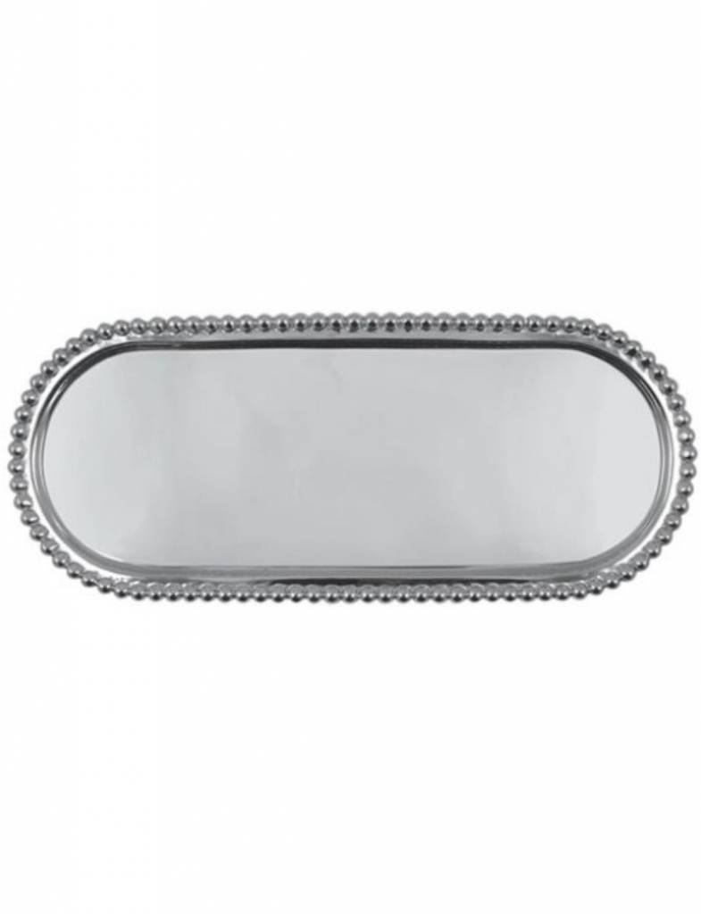 2709 Pearled Long Oval Tray