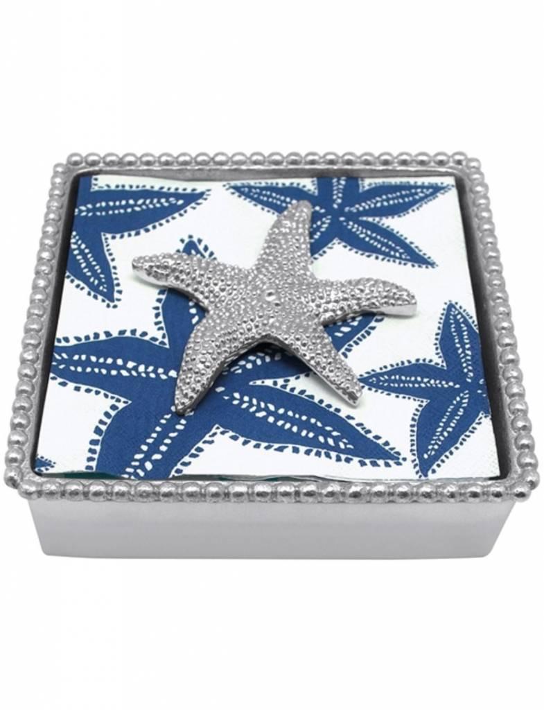 2785-C Starfish Beaded Napkin Box