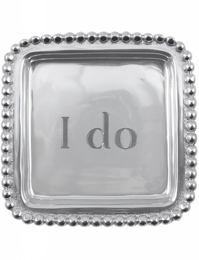 "3200ID ""I do"" Beaded Square Tray"