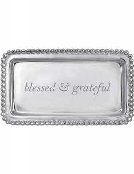 "3905BG ""blessed & grateful"" Statement Tray"