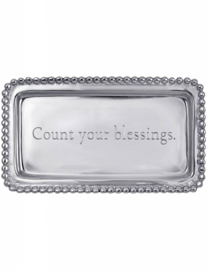 """3905CB """"Count your blessings."""" Tray"""
