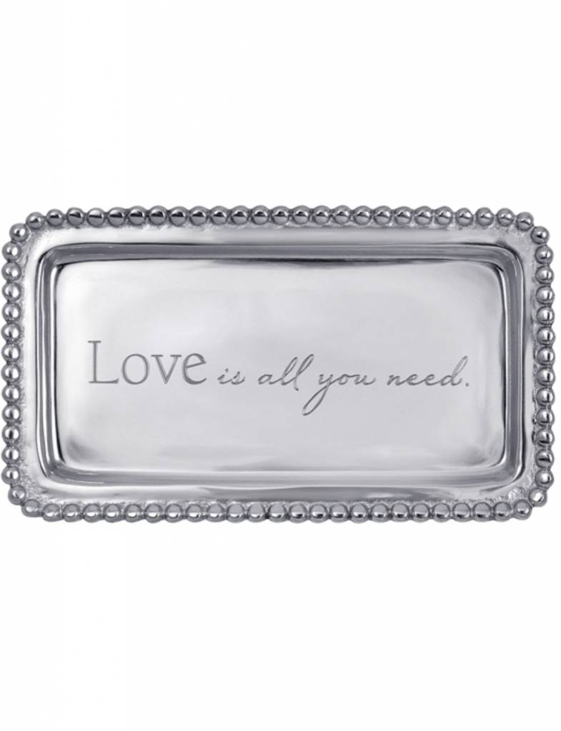"""3905LA """"Love is all you need."""" Tray"""