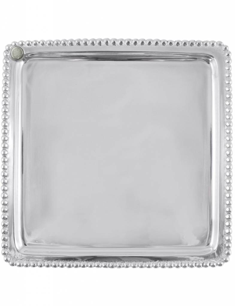 5538 Charms Beaded Square Plate