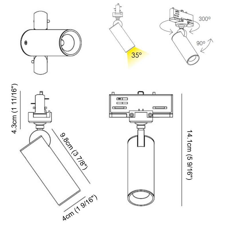Zaneen Tub LED par Zaneen
