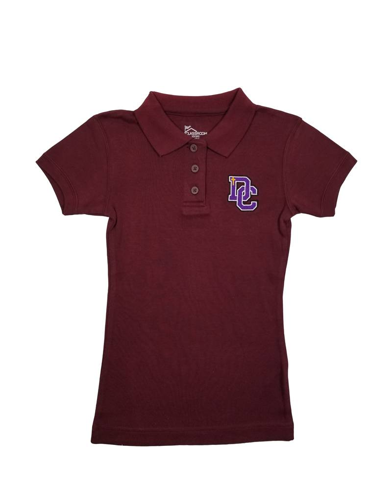 Classroom Uniforms Dayton Christian Girls SS Polo - Maroon