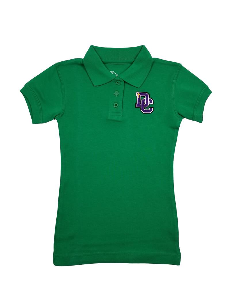Classroom Uniforms Dayton Christian Girls SS Polo - Kelly