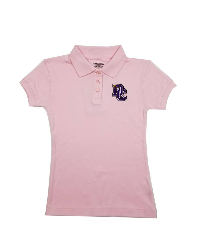 Classroom Uniforms Dayton Christian Girls SS Polo - Pink