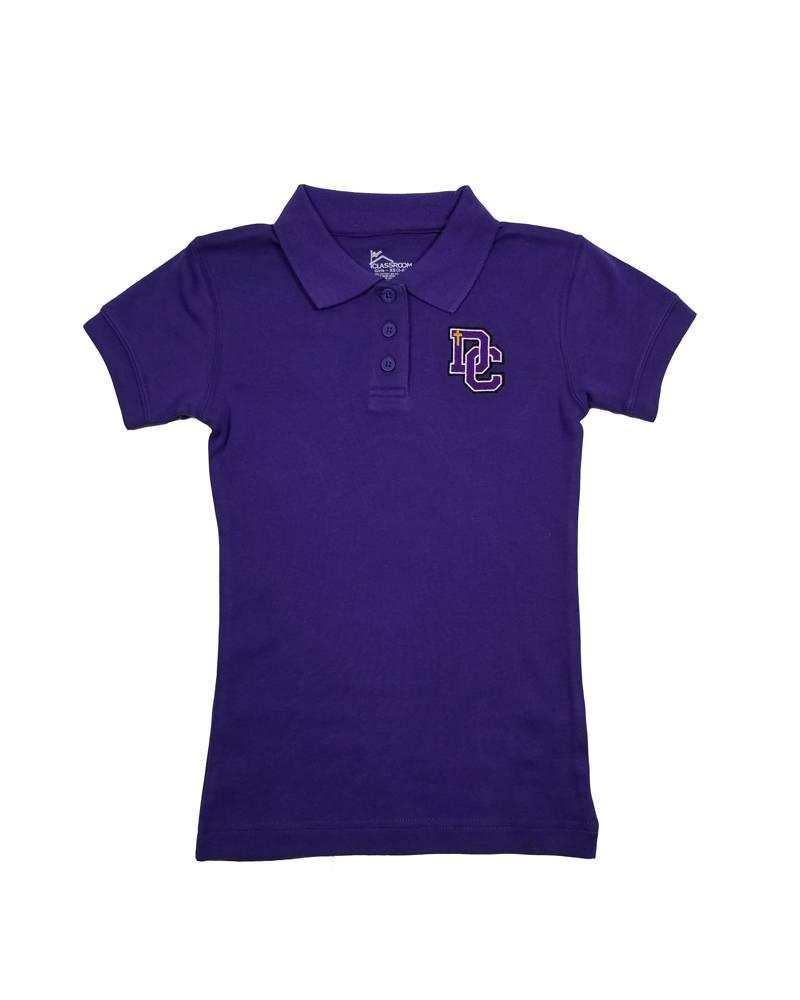 Classroom Uniforms Dayton Christian Girls SS Polo - Purple