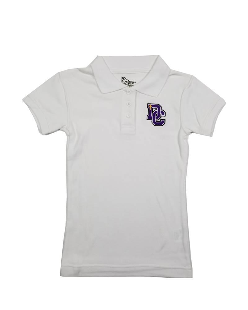 Classroom Uniforms Dayton Christian Girls SS Polo - White