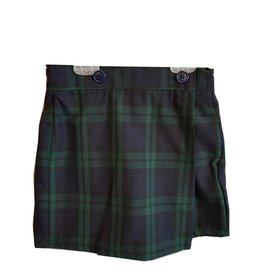 Wrap Front Skort Plaid 79
