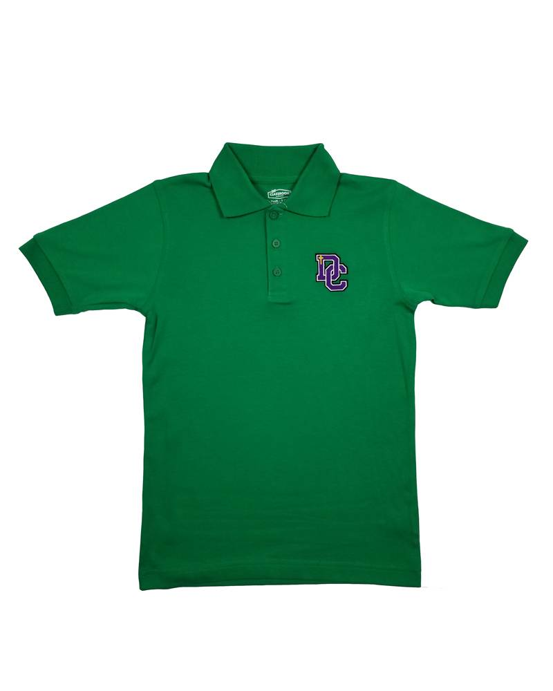 Classroom Uniforms Dayton Christian SS Polo - Kelly