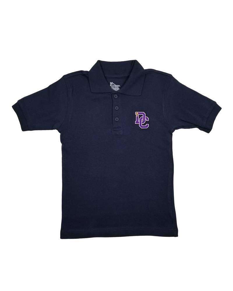 Classroom Uniforms Dayton Christian SS Polo - Navy