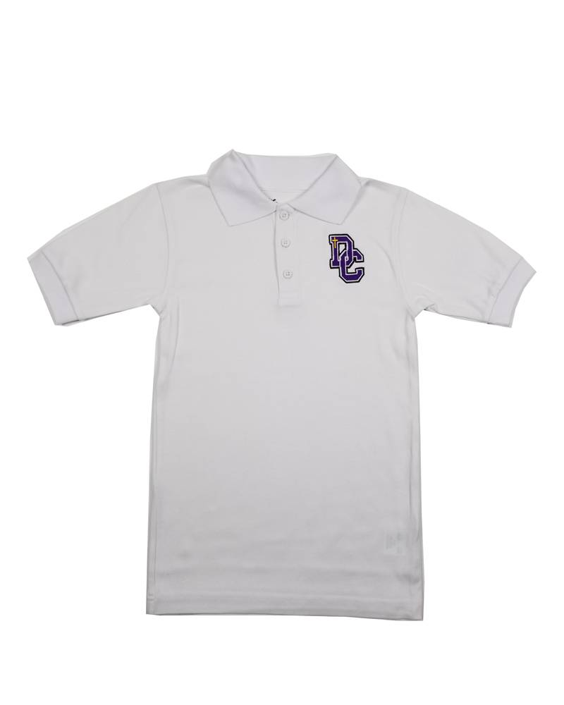 Classroom Uniforms Dayton Christian SS Polo - White