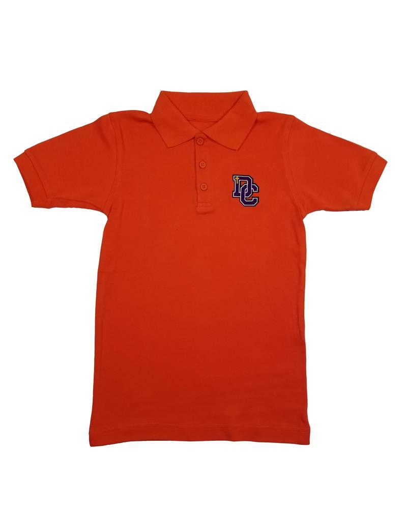 Classroom Uniforms Dayton Christian SS Polo - Orange