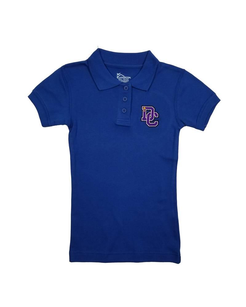 Classroom Uniforms Dayton Christian Girls SS Polo - Royal