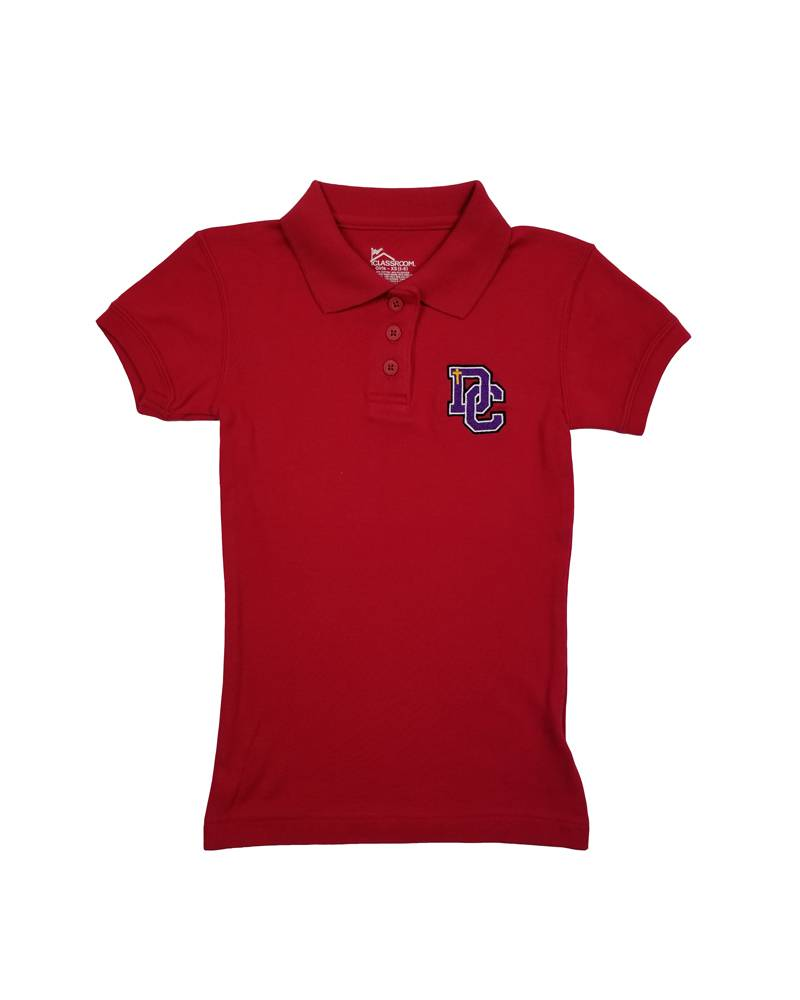 Classroom Uniforms Dayton Christian Girls SS Polo - Red