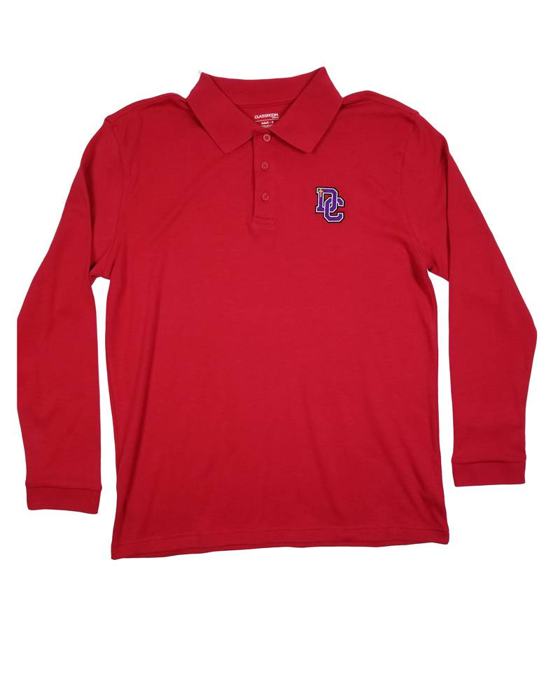 Classroom Uniforms DAYTON CHRISTIAN LS POLO SHIRT - RED