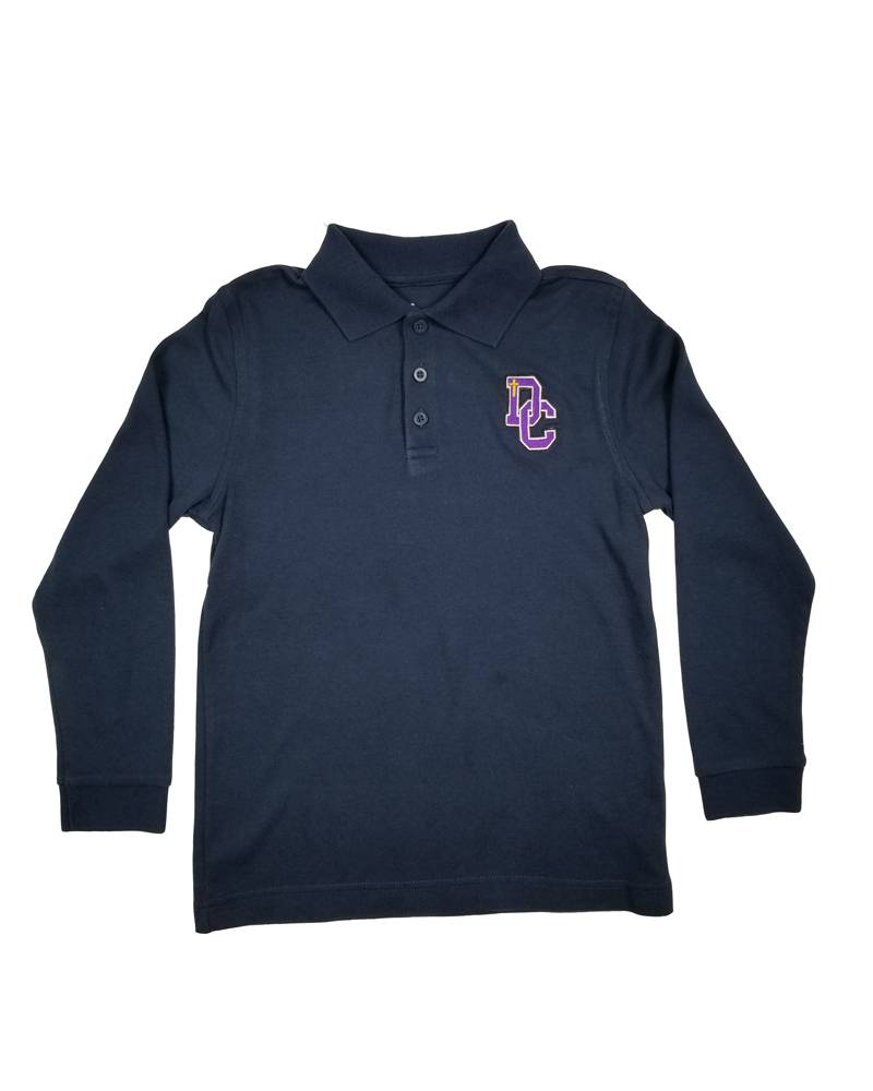 Classroom Uniforms DAYTON CHRISTIAN LS POLO SHIRT - NAVY