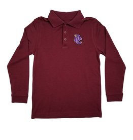 Classroom Uniforms DAYTON CHRISTIAN LS POLO SHIRT - MAROON