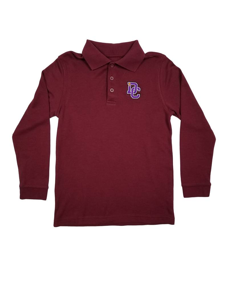 Classroom Uniforms DAYTON CHRISTIAN LS POLO SHIRT - MAROON