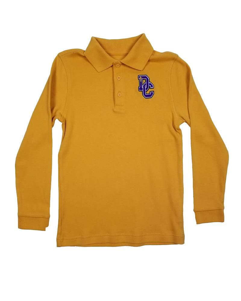 Classroom Uniforms DAYTON CHRISTIAN LS POLO SHIRT - GOLD