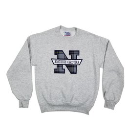School Apparel, Inc. NORTHSIDE CHRISTIAN PLAID SWEATSHIRT
