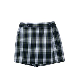 Wrap Front Skort Plaid 80