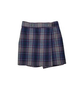 Wrap Front Skort Plaid 53