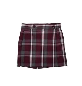 Wrap Front Skort Plaid 54