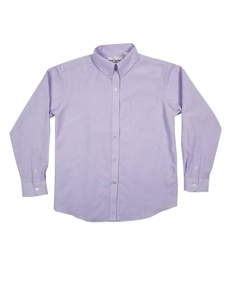 Elder Manufacturing Co. Inc. GIRLS/LADIES LS PURPLE OXFORD BLOUSE