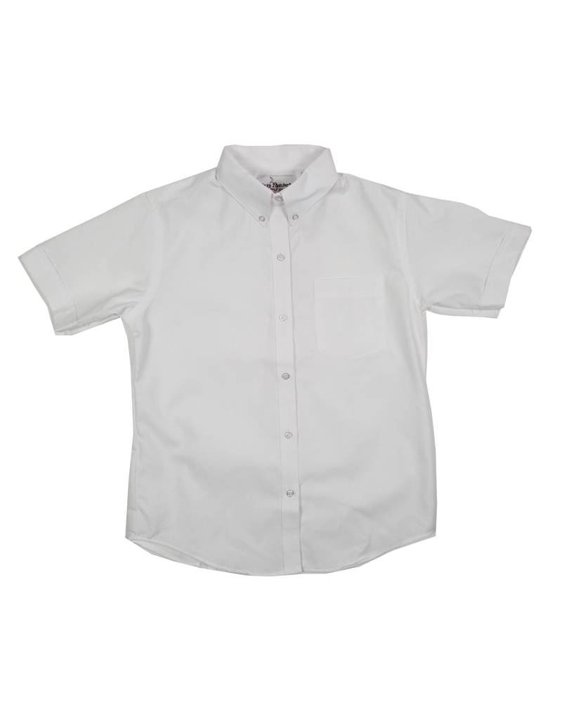Elder Manufacturing Co. Inc. GIRLS/LADIES SS WHITE OXFORD BLOUSE