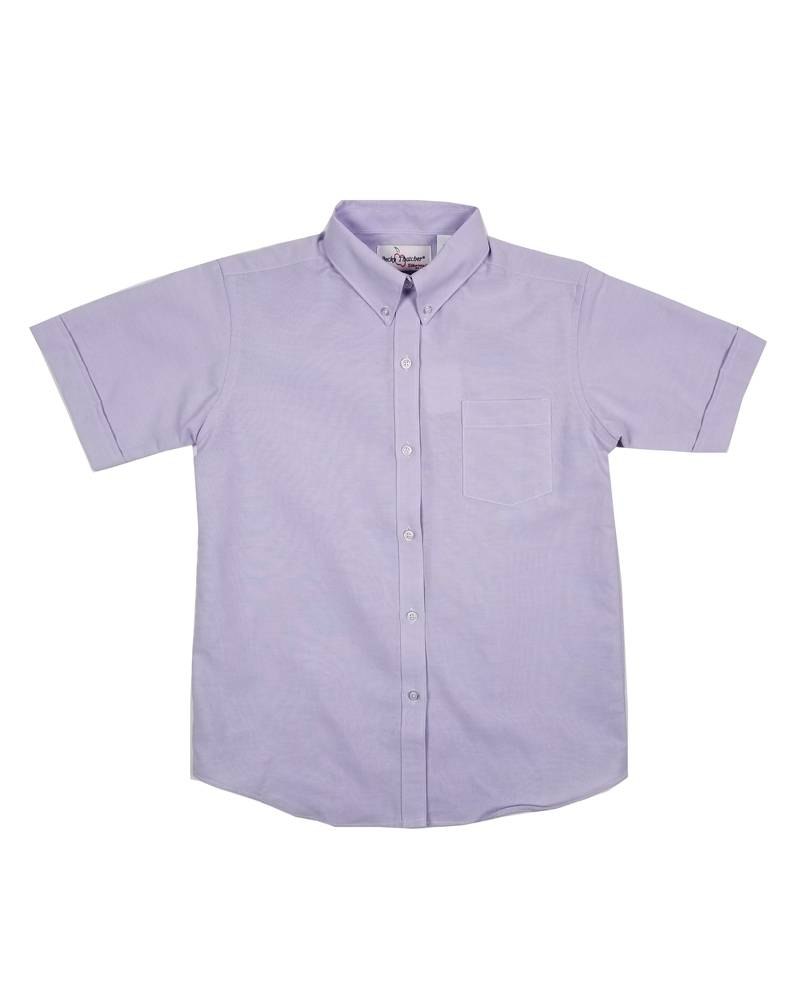 Elder Manufacturing Co. Inc. GIRLS/LADIES SS PURPLE OXFORD BLOUSE