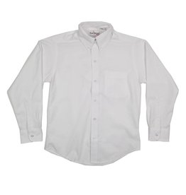 Elder Manufacturing Co. Inc. BOYS/MENS LS WHITE OXFORD SHIRT
