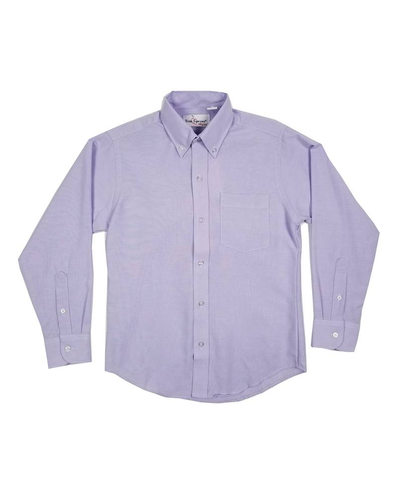 Elder Manufacturing Co. Inc. BOYS/MENS LS PURPLE OXFORD SHIRT