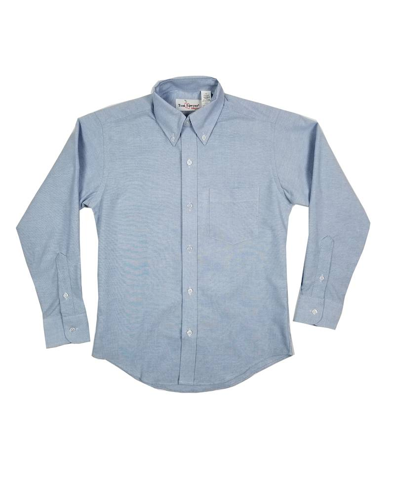 Elder Manufacturing Co. Inc. BOYS/MENS LS LT BLUE OXFORD SHIRT