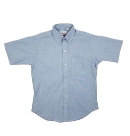 Elder Manufacturing Co. Inc. Boys/Mens SS Blue Oxfords