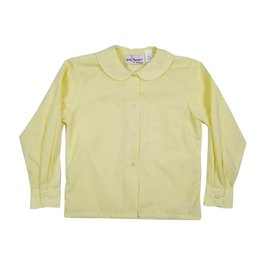 Elder Manufacturing Co. Inc. GIRLS/LADIES LS YELLOW ROUND COLLAR BLOUSE