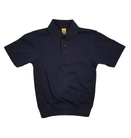 School Apparel, Inc. SHORT SLEEVE BANDED BOTTOM POLO NAVY